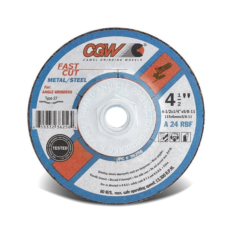 "Grinding Wheels 1/4"" Thick"