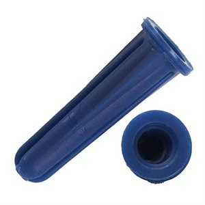 "Anchors Plastic Conical 1 / 4""x 1"" Blue 500ct"