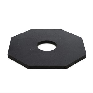 Delineator Rubber Base 15 lb Octagon 4.5in Hole