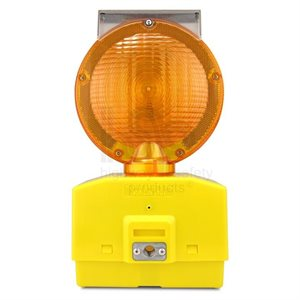 Barricade Road Light Yellow With Battery, 12 Pack
