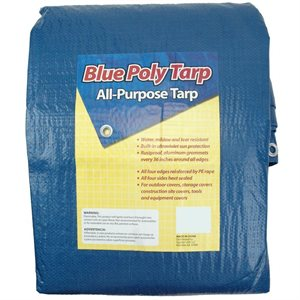 "Tarp Blue Poly 6'x 8' Act. Size 5'-6"" x 7'-6"" 30ct"